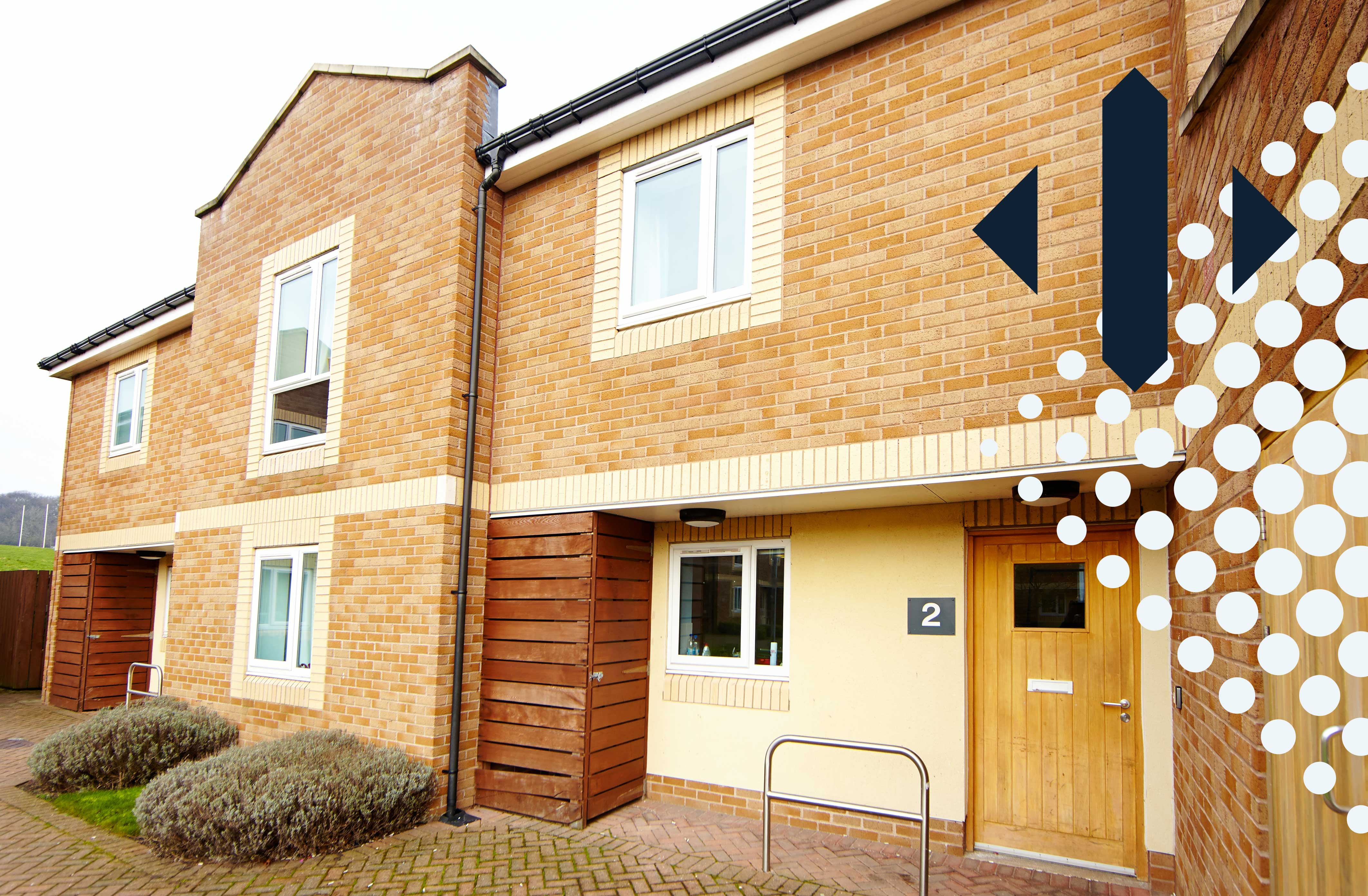 The exterior of Trinity Close accommodation.