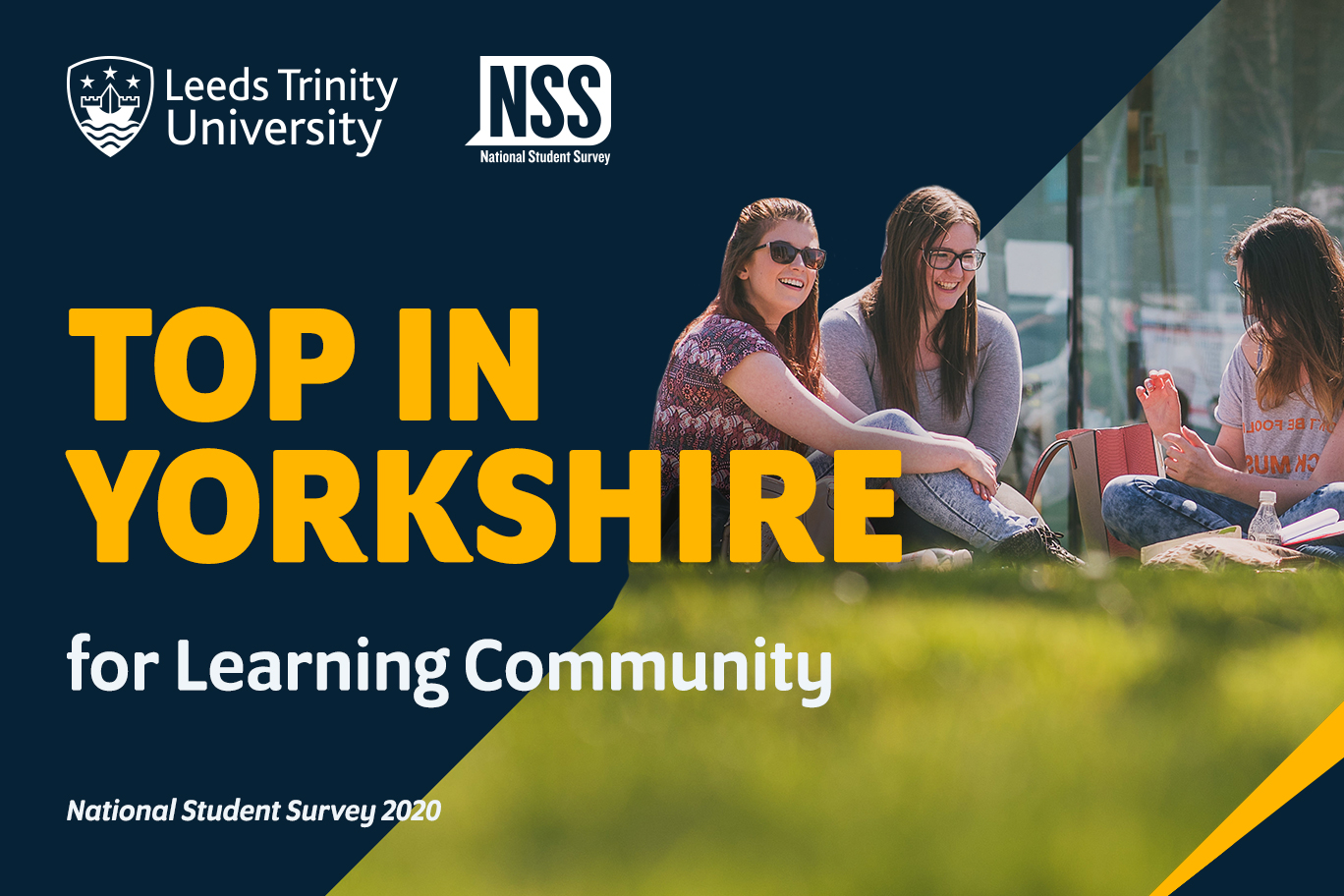 NSS 2020 Top in Yorkshire for Learning Community.